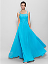 Lanting Floor-length Chiffon Bridesmaid Dress - Pool A-line Spaghetti Straps