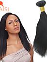 """3 buntar 8 """"-28"""" malaysiska jungfru hår naturligt svart rakt människohår väva"""