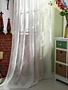 Två paneler Rustik / Modern / Nyklassisistisk Solid Multifärgad Bedroom Linne/Polyesterblandning Sheer gardiner Shades