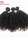 enchevetrement 3pcs libres / lot bresilienne de cheveux boucles vierge crepus longueur mixte 8inch boucles afro -30inch pour femme noire