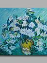 bereit, gestreckten handgemalte OElgemaelde Leinwand Van Gogh repro Vase mit weissen Mohn haengen ein Panel