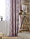 Deux Panneaux Le traitement de fenetre Neoclassique Rustique Moderne Chambre a coucher Melange Lin/Coton Materiel Rideaux Tentures