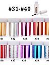 Abstrakt - Finger / Tå - 3D Nagelstickers - av PVC - 10pcs nail foils + 1pcs nail foil glue - styck 4cmX120cm each piece - cm