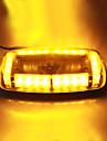 Vehicle Roof Top Yellow 24 LED Emergency Warning Strobe Light Lamp Magnetic Base