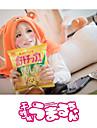 Inspirerad av Himouto Cosplay Animé Cosplay-kostymer cosplay Pull Enfärgat Tryck Orange Lång ärm Kappa För Unisex