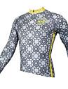 PALADIN® Cykeltröja Herr Lång ärm CykelAndningsfunktion / Snabb tork / Ultraviolet Resistant / Back Pocket / Minskar skavsår /