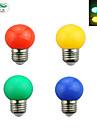 zweihnder blå grön röd yellowl LED-lampa E27 0,6W LED-lampa 4 färger (1st)
