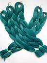 "1pc 24 ""80g vert emeraude / teal kanekalon senegalese twist xpression synthetique jumbo box tranchant les cheveux"