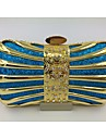 Women Other Leather Type Baguette Evening Bag - Pink / Blue / Gold / Silver / Black