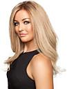 mode Gloden douce longueur moyenne boucles perruque de cheveux synthetiques