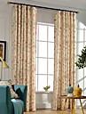 Deux Panneaux Rustique / Moderne / Neoclassique Floral / Botanique Multicolore Chambre a coucher Polyester Panneau Rideaux rideaux