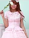 söt lolita vit / svart / rosa blus