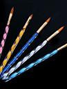 1set spiral nail art akryl penna carving kristall penna pensel penna (5pcs / set)