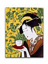 HANDMÅLAD MänniskorKlassisk En panel Kanvas Hang målad oljemålning For Hem-dekoration