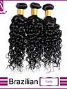 1st / lot brasiliansk lockigt hår väva 100% obearbetat brasilianska jungfru hår lockigt hår inslag