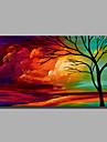 HANDMÅLAD Landskap / Abstrakta landskapModerna En panel Kanvas Hang målad oljemålning For Hem-dekoration