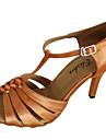 Latin / Salsa - Pantofi de dans (Maro) - Personalizat - Pentru femei