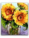Peint a la main A fleurs/Botanique Verticale,Realisme Un Panneau Toile Peinture a l\'huile Hang-peint For Decoration d\'interieur