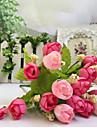 Gren Polyester Roser Bordsblomma Konstgjorda blommor 24*8*1