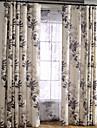 Två paneler Rustik / Modern / Nyklassisistisk / Medelhavet / Europeisk Blommig/Botanisk / Löv Beige / Blå Bedroom Linne/Polyesterblandning