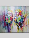 HANDMÅLAD Djur / fantasi / HögtidModerna En panel Kanvas Hang målad oljemålning For Hem-dekoration