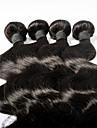 Human Hår vävar Mongoliskt hår Kroppsvågor 3 delar hår väver
