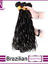 """3st / lot 12 """"-30"""" brasilianska jungfru hår naturligt svart naturlig våg mänskliga hårförlängningar hår väver buntar tjockt&mjuk"""
