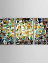 oljemålning modern abstrakt landskap uppsättning av tre handen målade med sträckt inramade