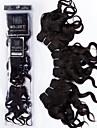 evet 3pcs 8inch # 1b de cheveux humains tissage non transformes 7a bresiliens vierges vague de corps de cheveux de cheveux bresiliens