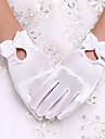 Lungime Încheietură Vâfuri de Degete Mănușă Spandex Mănuși de Mireasă Mănuși de Party/ Seară Primăvară Vară Toamnă Iarnă Perle Funde