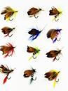 """12 st Flugor / Fiskbete Flugor phantom / Blandade färger 1g g/1/18 Uns,20 mm/1"""" tum,Metall Flugfiske"""