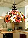 E27 220V 30*20CM 5-10㎡European Rural Creative Arts Stained Glass Chandelier Restoring Ancient Ways Lamp Led Light