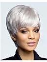 kort hår europeisk väva ljus vit färg hår peruk