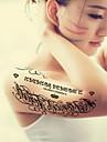 BR - Tatueringsklistermärken -Non Toxic / Mönster / Stor storlek / Glitter / Tatueringsmaskin / Stam / Ländrygg / Waterproof / Jul / Nyår