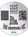 nail art stämpling bild metallplattor kit ställa in en uppsättning av tio plattor random leverans