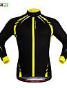 Wosawe® Veste de Cyclisme Unisexe Manches longues Velo Garder au chaud Pare-vent Doublure Polaire Bandes Reflechissantes Antiderapage