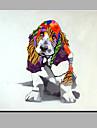 enda modern abstrakt ren handen dra ramlösa dekorativt måleri hund