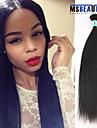 """1 st / lot 12 """"-30"""" 5a malaysiska jungfru hår rakt människohår väft 100% obearbetat malaysiska remy hår väver"""