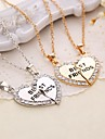Necklace Pendant Necklaces Jewelry Thank You Daily Casual Valentine Heart Heart Initial Jewelry Copper 1set Gift