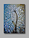 """Ready to hang Stretched Hand-Painted Oil Painting 36""""x24"""" on Canvas Wall Art Abstract Heavy Oils White Blossom"""