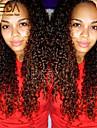 människohår spetsar peruker afro kinky lockigt spets front peruker mongoliska remy håret fullt spetsar peruker för svarta kvinnor 10 \'\' -