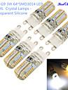 3W G9 LED-lampor med G-sockel T 64 SMD 3014 300 lm Varmvit / Kallvit Dekorativ AC 220-240 V 6 st