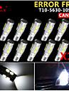 10x canbus coin t10 blanc 192 168 194 W5W 10 5630 SMD LED Lampe erreur ampoule 12v gratuitement
