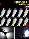 10x canbus wedge t10 vit 192 168 194 W5W 10 5630 smd LED-ljus glödlampan felfri 12v