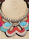 Dame Coliere Choker Guler Reșină Material Textil Bohemia Stil La modă Portocaliu Albastru Bijuterii Nuntă Petrecere Zilnic Casual 1 buc