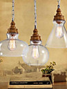 Wood Grain Crystal Droplight Cafe Restaurant Bar Lighting Lamps And Lanterns