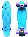 klassiska plast skateboard (22 tum) kryssare ombord pastellblå med lila hjul