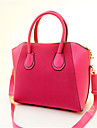 Women PU Baguette Tote - Pink / Blue / Black