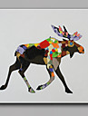 Hånd-malede DyrModerne Et Panel Canvas Hang-Painted Oliemaleri For Hjem Dekoration
