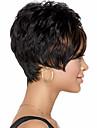 dammode kort svart hår syntetisk peruk